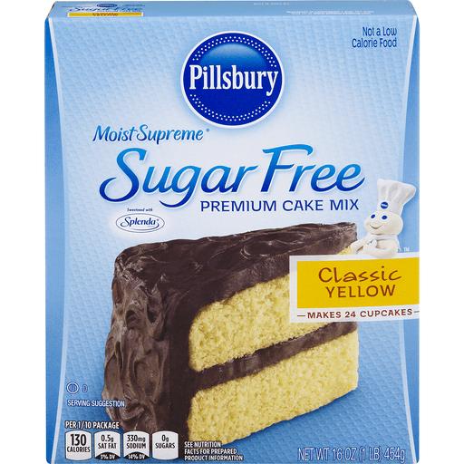 Pillsbury Moist Supreme Cake Mix, Premium, Sugar Free, Classic Yellow