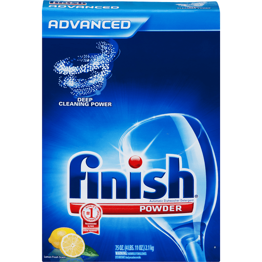 Finish Advanced Automatic Dishwasher Detergent, Powder, Lemon Fresh Scent