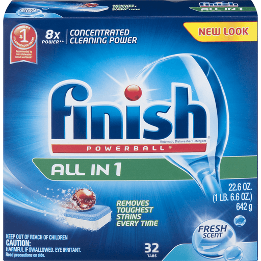 Finish All in 1 Powerball Automatic Dishwasher Detergent, Deep Clean, Fresh Scent