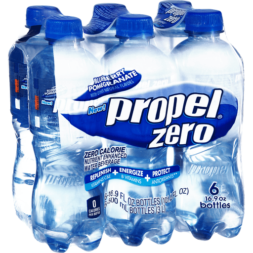 Propel Water Beverage, with Electrolytes & Vitamins, Blueberry Pomegranate, 6 Pack