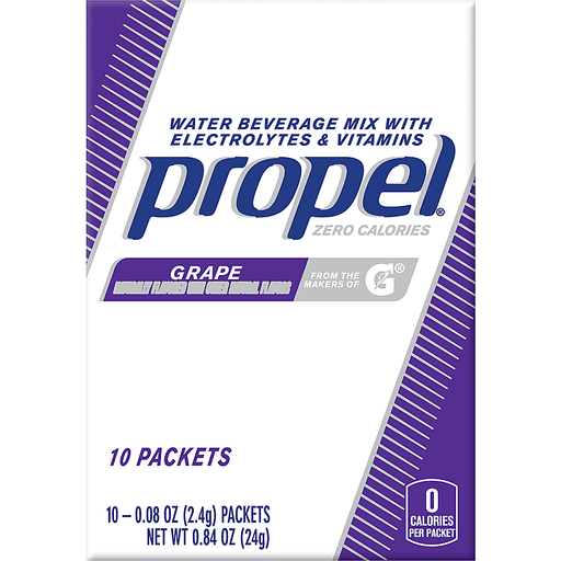Propel Water Beverage Mix, Zero Calories, Grape