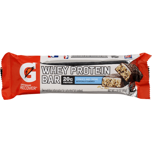 Gatorade G Series Whey Protein Bar, Recover, Cookies and Creme