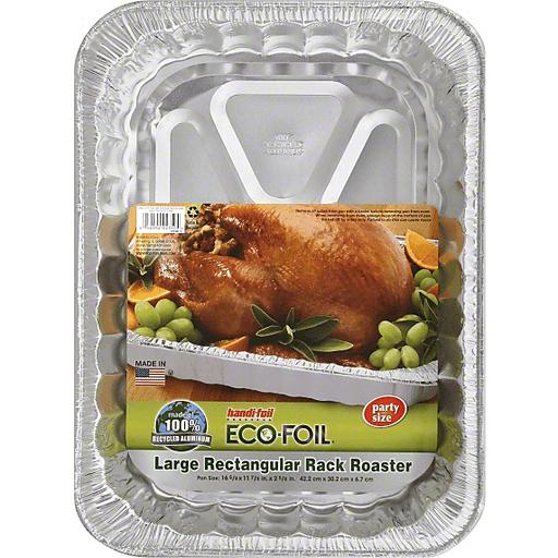 Handi Foil Eco-Foil Rack Roaster, Rectangular, Large