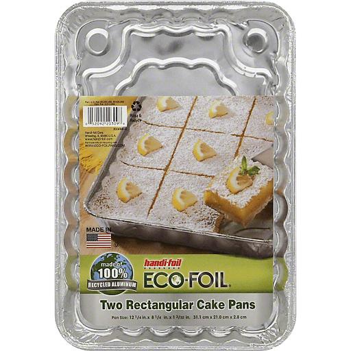 Handi Foil Eco-Foil Cake Pans, Rectangular