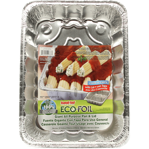 Handi Foil Eco-Foil Cook-N-Carry All Purpose Pan & Lid, Giant