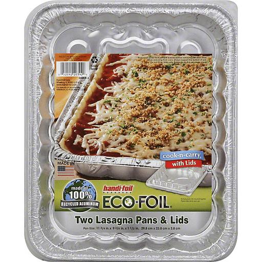 Handi Foil Eco-Foil Cook-N-Carry Lasagna Pans & Lids