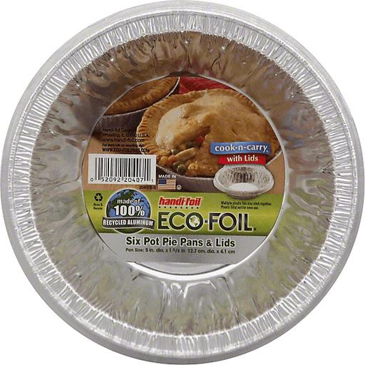 Handi Foil Eco-Foil Cook-N-Carry Pans & Lids, Pot Pie