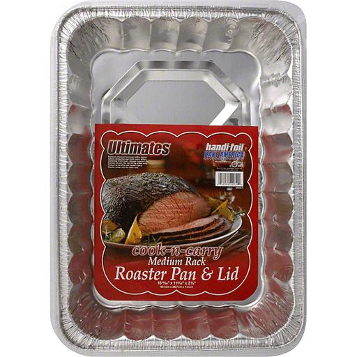 Handi Foil Eco-Foil Cook-N-Carry Pan & Lid, Roaster, Medium Rack