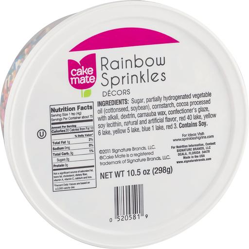 Cake Mate Festive Fixings Rainbow Decors