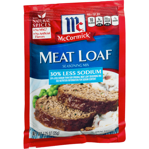 McCormick Seasoning Mix, 30% Less Sodium, Meat Loaf