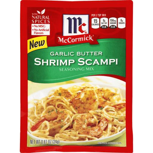 McCormick Seasoning Mix, Shrimp Scampi, Garlic Butter