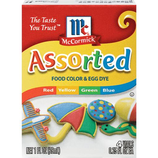 McCormick Food Color, & Egg Dye, Assorted