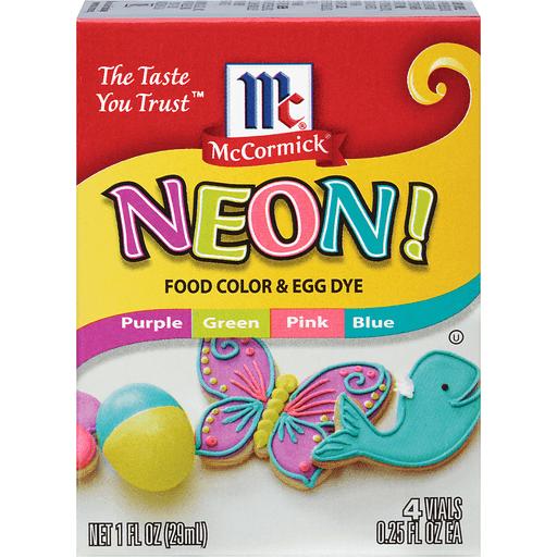 McCormick Food Color & Egg Dye, Neon!