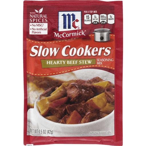 McCormick Slow Cookers Seasoning Mix, Hearty Beef Stew