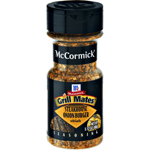 McCormick Grill Mates Seasoning, Steakhouse Onion Burger with Garlic