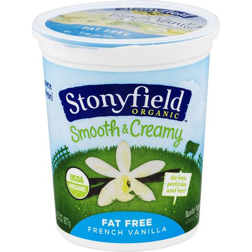 Stonyfield Farm Organic Yogurt, Nonfat, French Vanilla