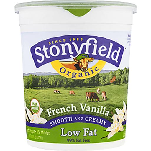 Stonyfield Farm Organic Yogurt, Lowfat, Organic, Smooth & Creamy, French Vanilla