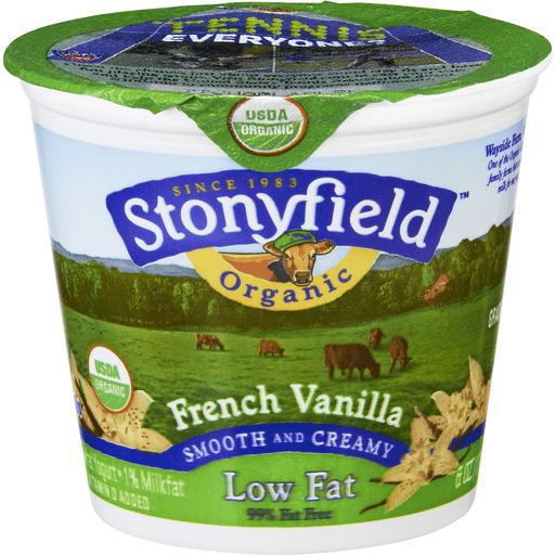 Stonyfield Farm Organic Yogurt, Lowfat, French Vanilla