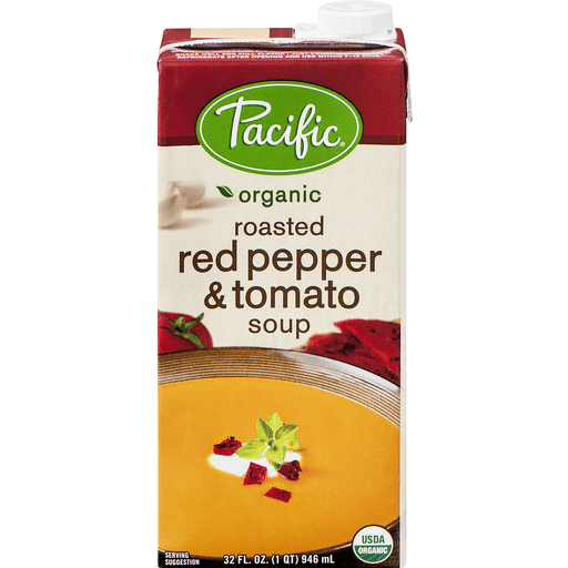 Pacific Organic Soup, Organic, Roasted Red Pepper & Tomato