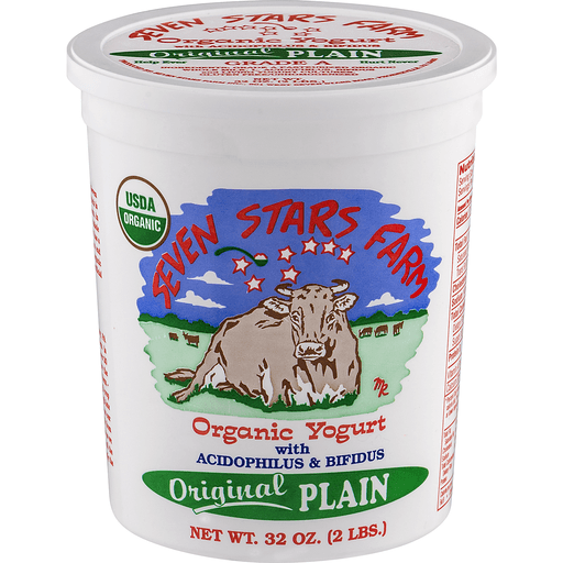 Seven Stars Farm Organic Yogurt Original Plain