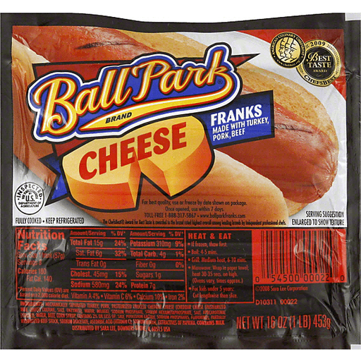 Ball Park Franks, Cheese | Ron's