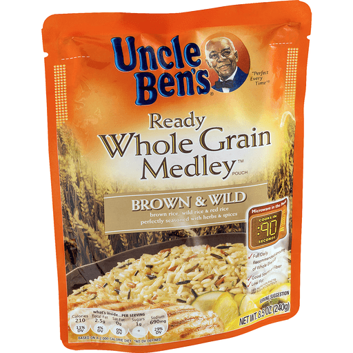 Uncle Bens Whole Grain Medley Pouch, Ready, Brown & Wild