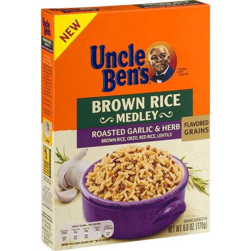 Uncle Bens Brown Rice Medley, Roasted Garlic & Herb