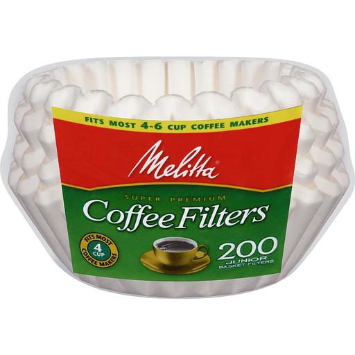 Melitta Coffee Filters, Basket, Junior