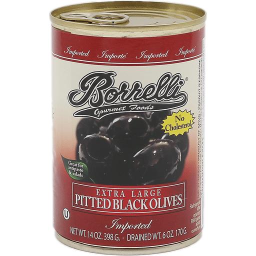 Borrelli Black Olives Large