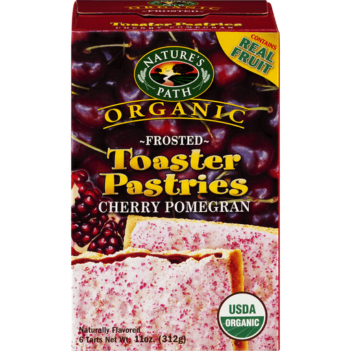 Natures Path Organic Toaster Pastries, Frosted Cherry Pomegranate