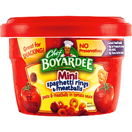 Chef Boyardee Mini Spaghetti Rings & Meatballs