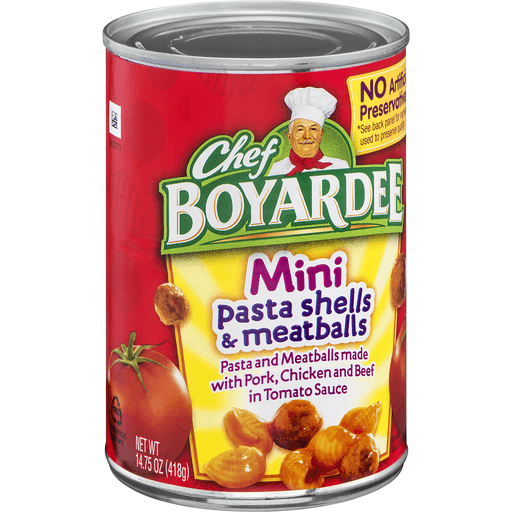 Chef Boyardee Pasta Shells & Meatballs, Mini