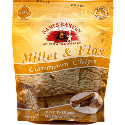 Samis Millet And Flax Cinnamon Chips