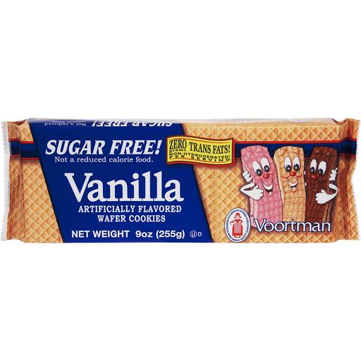 Voortman Cookies, Wafer, Sugar Free, Vanilla
