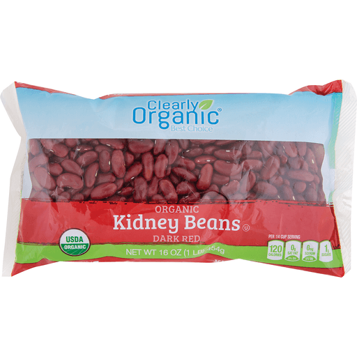 Clearly Organic Dry Dark Red Kidney Beans Dried Beans Ptacek S Iga