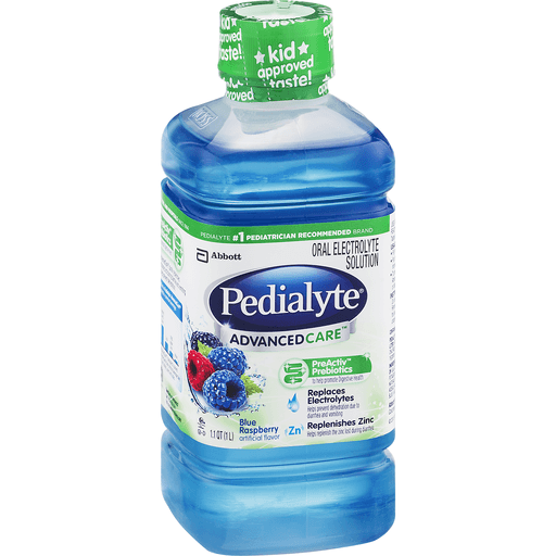 Pedialyte Advanced Care Oral Electrolyte Solution Blue Raspberry Flavor