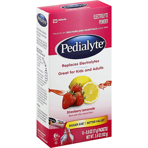 Pedialyte Electrolyte Powder, Strawberry Lemonade, Packets | Milk ...