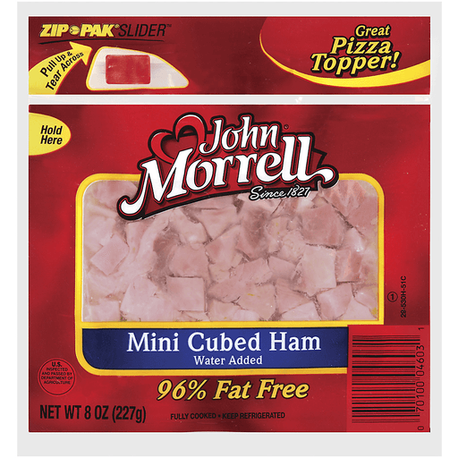 John Morrell Mini Cubed Ham Specialty Cuts 8 Oz Peg
