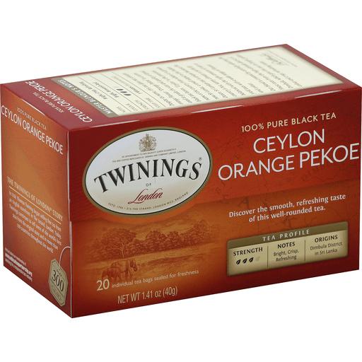 Pure, Ceylon Orange Pekoe, Tea Bags