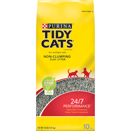Tidy Cats Cat Litter, 24/7 Performance, Non-Clumping, Clay Litter