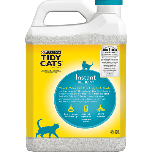Tidy Cats Instant Action Cat Litter, Clumping, for Multiple Cats