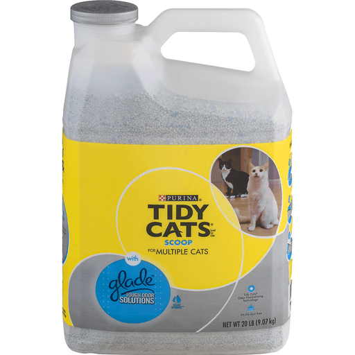 Tidy Cats Clumping Litter, for Multiple Cats, with Glade Tough Odor Solutions