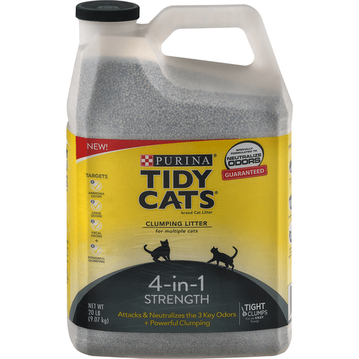 Tidy Cats Clumping Litter, for Multiple Cats, 4-In-1 Strength