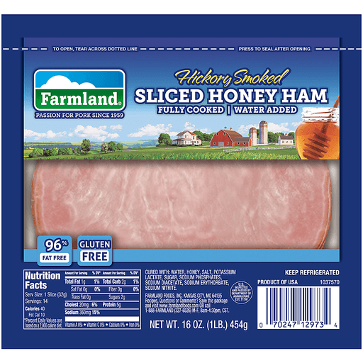 Farmland® Hickory Smoked Sliced Honey Ham 16 oz. Pack