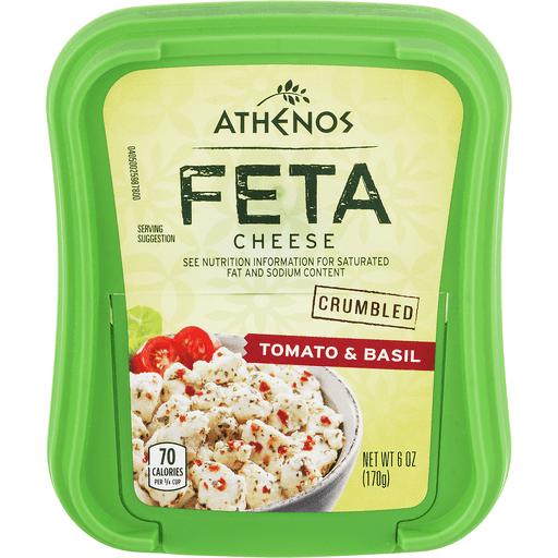 Athenos Crumbled Cheese, Feta, Tomato & Basil