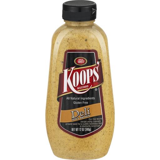 Koops Mustard, Deli, Spicy Brown