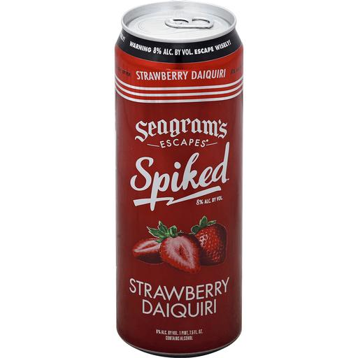 Seagrams Escapes Spiked Daiquiri, Strawberry