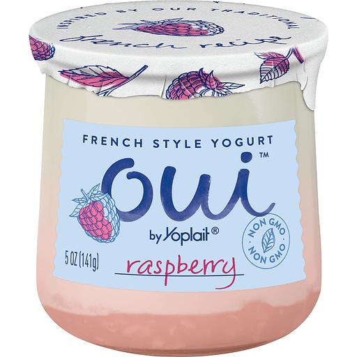 Yoplait Oui Yogurt, French Style, Raspberry