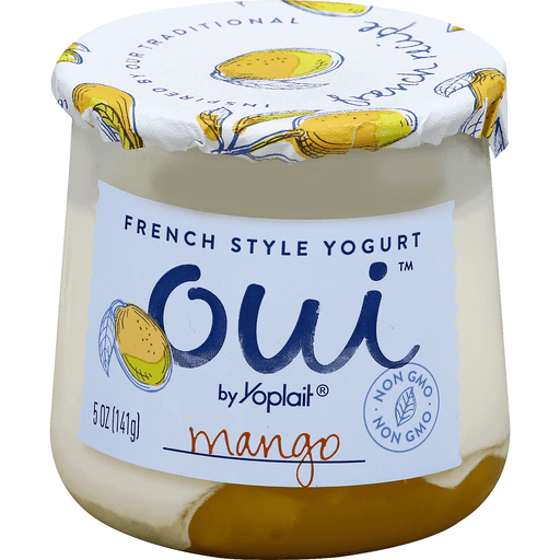 Yoplait Oui Yogurt, French Style, Mango
