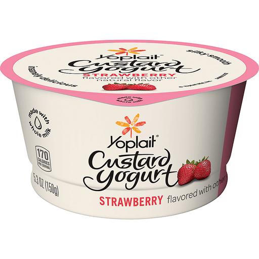 Yoplait® Strawberry Custard Yogurt 5.3 oz. Cup